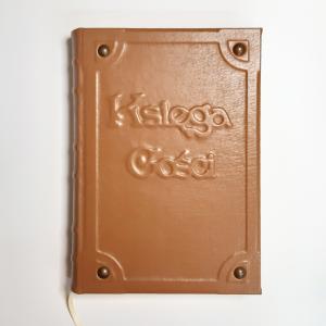 Księga gości weselna ręcznie robiona, skóra naturalna